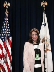 Lourdes Valdes at the White House